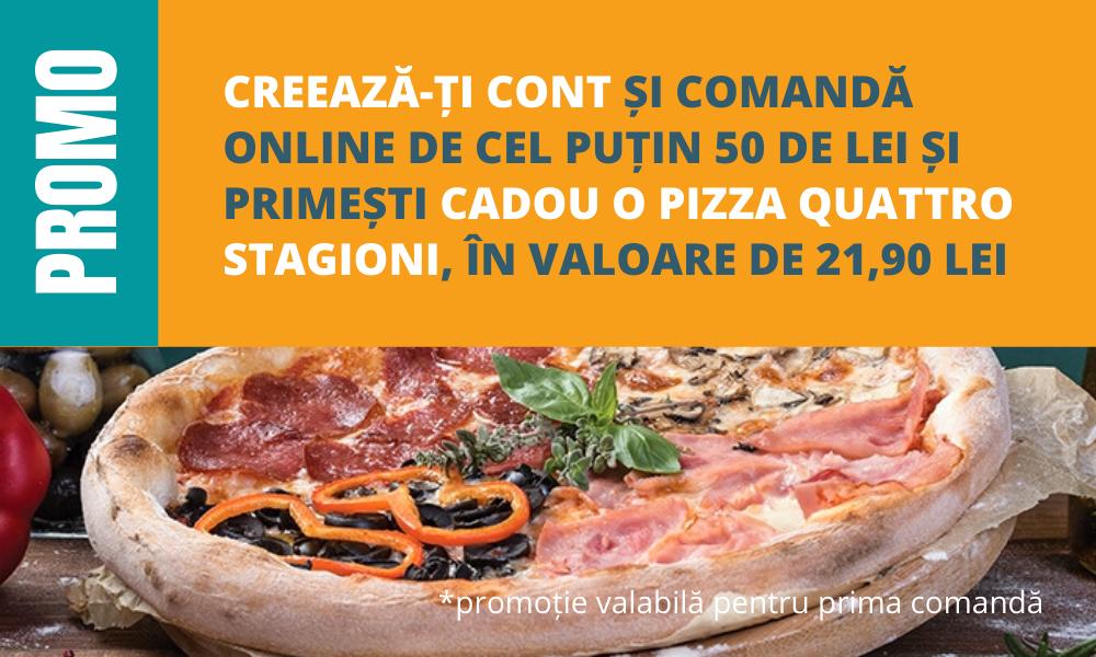 Promo cadou Pizza Quattro Stagioni